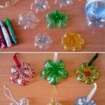 Χριστουγεννιάτικα στολίδια απο πλαστικά μπουκάλια
