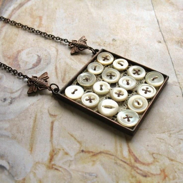 40 εκπληκτικές ιδέες για να φτιάξετε κοσμήματα απο κουμπιά ... a65030af0e1