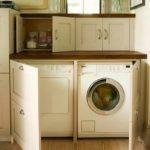 Ιδέες για να κρύψετε πλυντήριο - στεγνωτήριο.