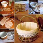 Φτιάξτε αποθηκευτικό καλάθι απο ένα πλαστικό δοχείο και ξύλινα μανταλάκια!