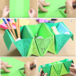 Πώς να φτιάξουμε θήκες οργάνωσης γραφείου Origami με μία κόλλα χαρτί! Φοβερή ιδέα. {ΒΙΝΤΕΟ}
