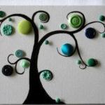 Πίνακες με Δέντρα από Κουμπιά