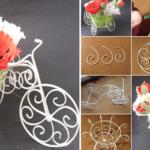 Πώς να φτιάξετε φανταστικά Διακοσμητικά Γλαστράκια Ποδήλατα από Σύρμα! Οδηγίες Βήμα Βήμα.