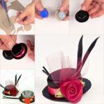 Πώς να φτιάξουμε φανταστικά τσιμπιδάκια καπέλα απo πλαστικά καπάκια!