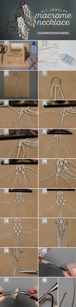 Πώς να φτιάξουμε μοναδικά μακραμέ κολιέ! - Toftiaxa.gr - Φτιάξτο ... 3cfdfe082fe