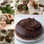 Διακοσμητικά φύλλα απο σοκολάτα! Μια εξαιρετική ιδέα διακόσμησης για γλυκά.