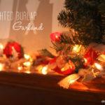 Πως να φτιάξουμε Χριστουγεννιάτικη Γιρλάντα με Φωτάκια και Λινάτσα!