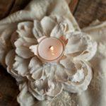 DIY Λουλούδια Κηροπήγια απο ψεύτικα λουλούδια και γύψο!