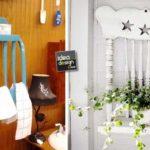 15 χρήσιμες, δημιουργικές και ανακυκλώσιμες ιδέες για τις παλιές καρέκλες!
