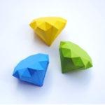 Πώς να φτιάξετε χάρτινα διαμάντια! Εκτυπώσιμο σχέδιο και οδηγίες.