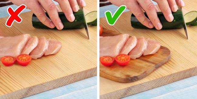 Χρησιμοποιείτε το ίδιο ξύλο κοπής για λαχανικά και κρέας