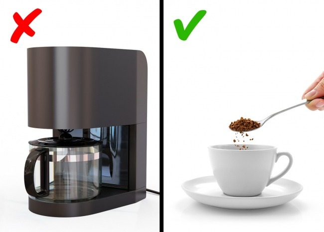 Χρησιμοποιείτε την καφετέρια του γραφείου για να φτιάξετε καφέ