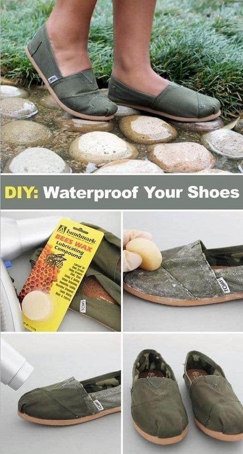 Αδιαβροχοποιήστε τα παπούτσια σας με κερί μέλισσας.