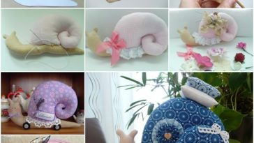 DIY μαξιλάρι σαλιγκάρι από ύφασμα - Πατρόν