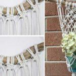 Μακραμέ κρεμαστή θήκη για βάζο με λουλούδια
