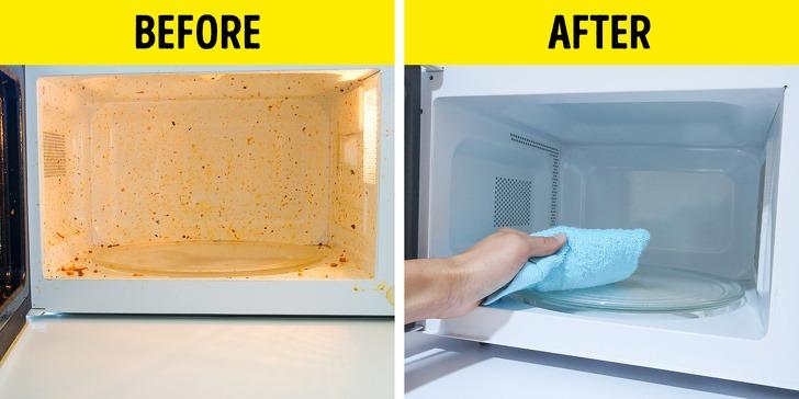 Καθαρίστε το φούρνο μικροκυμάτων βράζοντας ξύδι