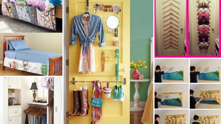 20 ιδέες για να αυξήσετε το χώρο αποθήκευσης σε μικρές κρεβατοκάμαρες