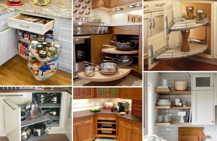 Ιδέες για γωνιακά ράφια κουζίνας