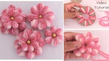 πώς να φτιάξεις πλεκτά λουλούδια