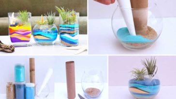 Φτιάξτε το δικό σας terrarium με χρωματιστή άμμο