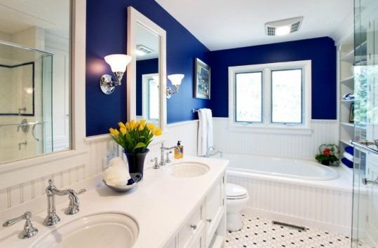Το μπλε με το λευκό είναι ένας από τους πιο δυνατούς συνδυασμούς αισιοδοξίας.