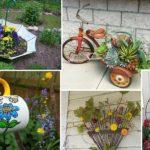 Διακόσμηση κήπου με ανακυκλώσιμα υλικά