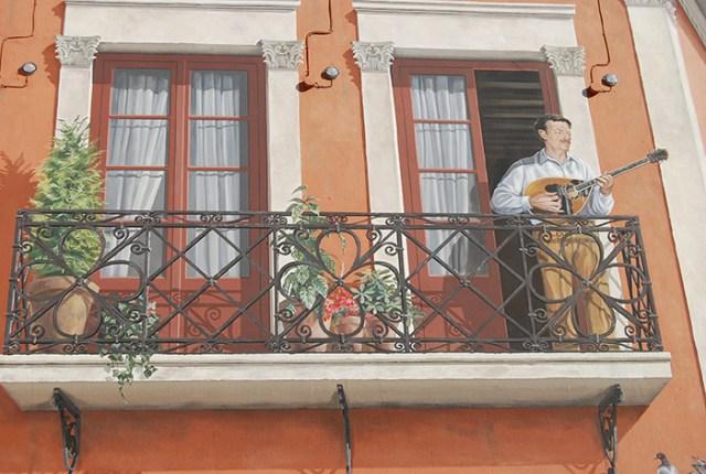 τοιχογραφία του Τσιτσάνη
