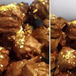 σοκολατάκια με γκοφρέτα με 3 Υλικά