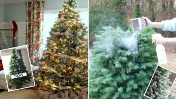 Πώς θα φτιάξετε μόνοι σας ένα χιονισμένο Χριστουγεννιάτικο δέντρο