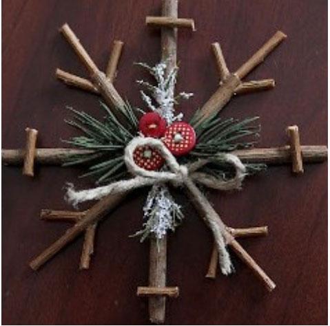 Ρουστίκ Χριστουγεννιάτικα στολίδια