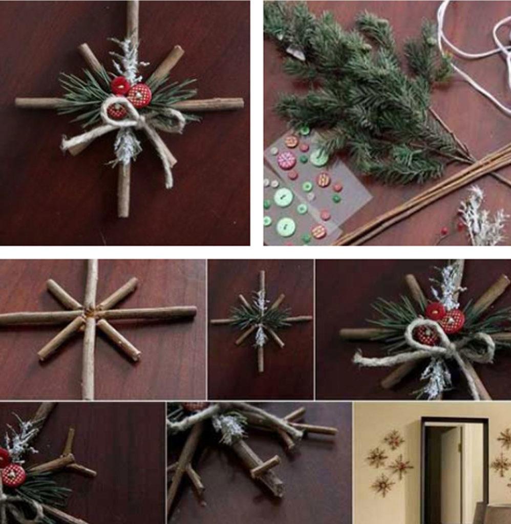 Υλικά και διαδικασία για τα Χριστουγεννιάτικα στολίδια με φυσικά υλικά