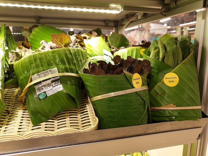 φύλλα μπανάνας, για φρούτα και λαχανικά