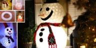 Κατασκευές τα Χριστούγεννα Χιονάνθρωπος από Πλαστικά Ποτηράκια