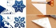 Μέθοδος Κιριγκάμι. Πώς να Φτιάξετε Χιονονιφάδες από Χαρτί, Πατρόν, Εκτυπώσιμα