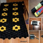 DIY Πομ Πομ Χαλάκι από Σακούλες Σκουπιδιών