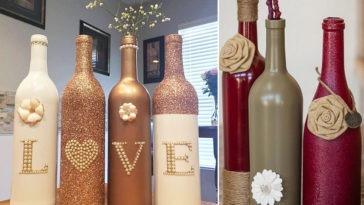 40 DIY Κατασκευές με Μπουκάλια Κρασιού